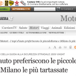 Corriere della Sera - furti di piccole a Roma e Milano