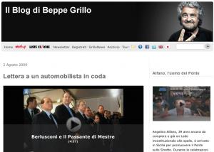 Beppe Grillo e gli automobilisti
